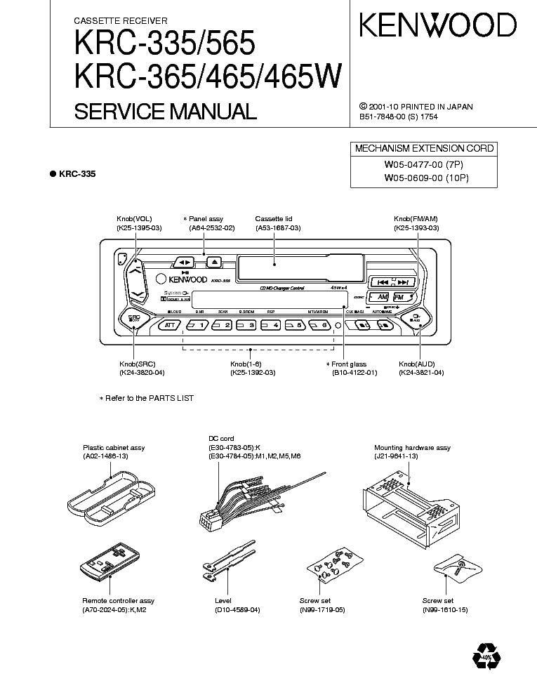 kenwood krc 335 365 465 565 service manual download schematics rh elektrotanya com Kenwood Wiring Harness Diagram Kenwood Wiring Harness Diagram
