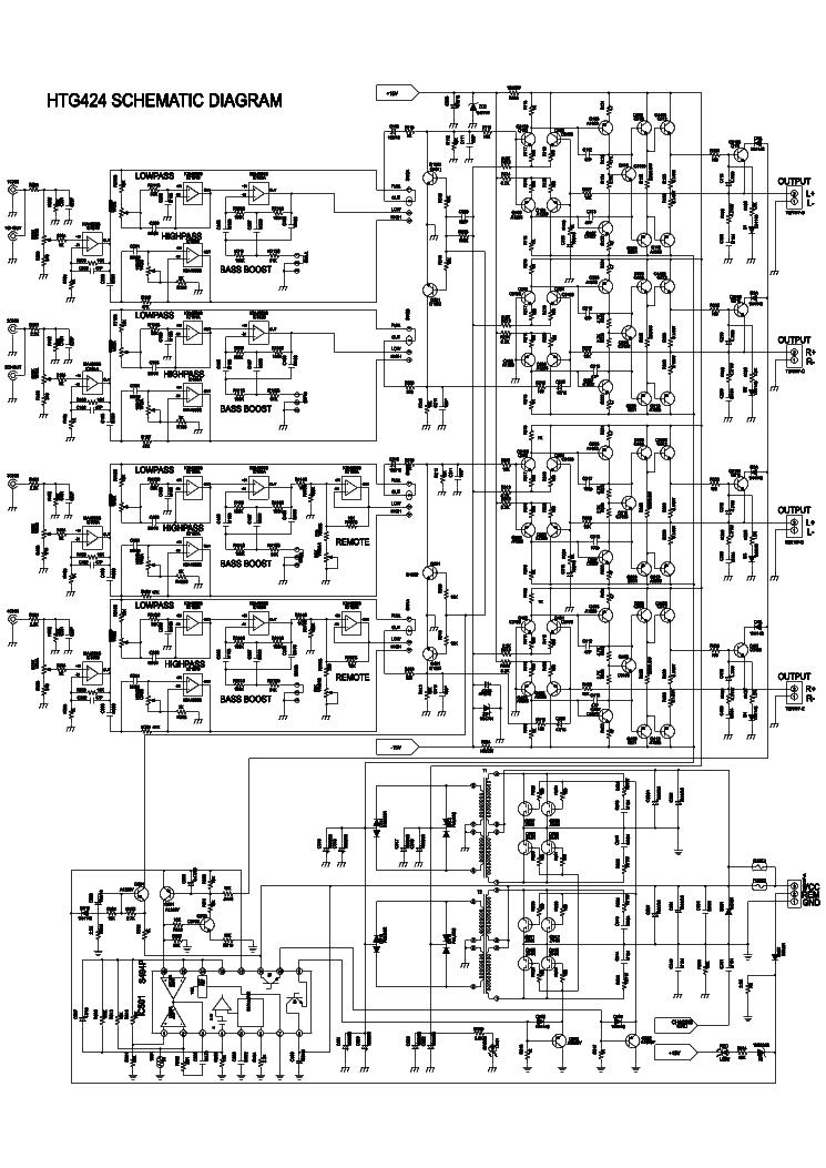 lanzar htg424 car amplifier sch service manual download  schematics  eeprom  repair info for