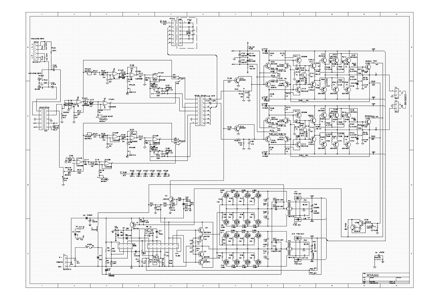 lanzar mxa282 car amplifier sch service manual download, schematics,  eeprom, repair info for electronics experts  elektrotanya