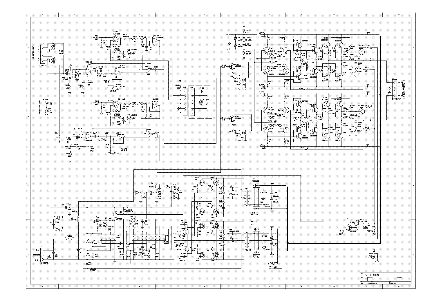 lanzar vibe266 car amplifier sch service manual download  schematics  eeprom  repair info for