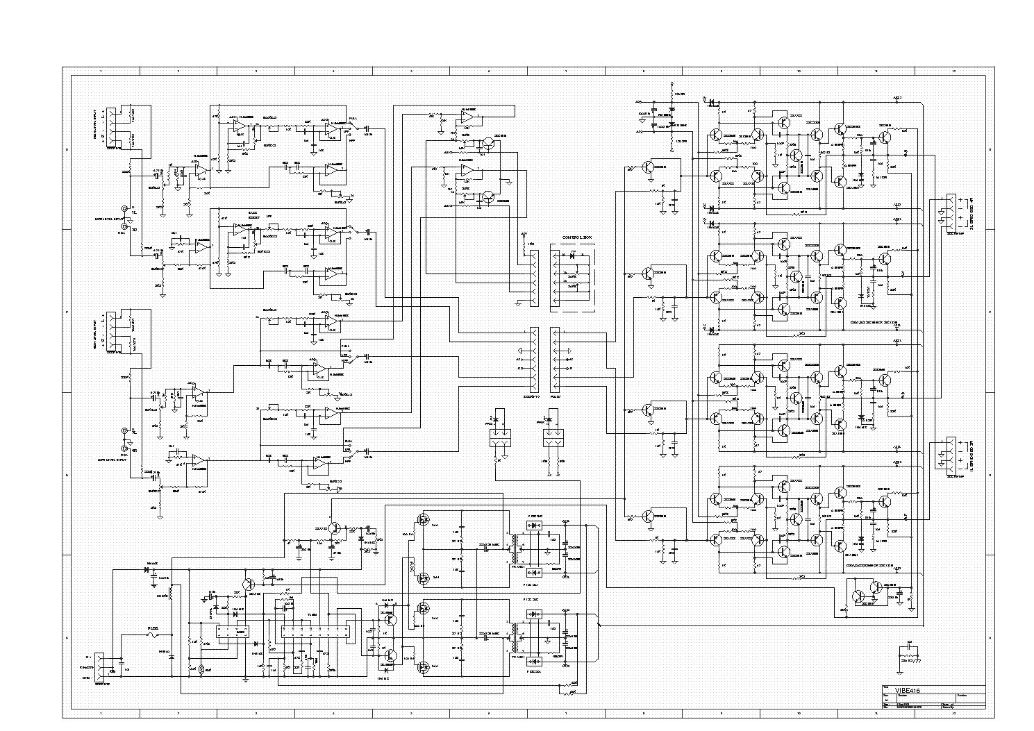 lanzar vibe416 car amplifier sch service manual download  schematics  eeprom  repair info for