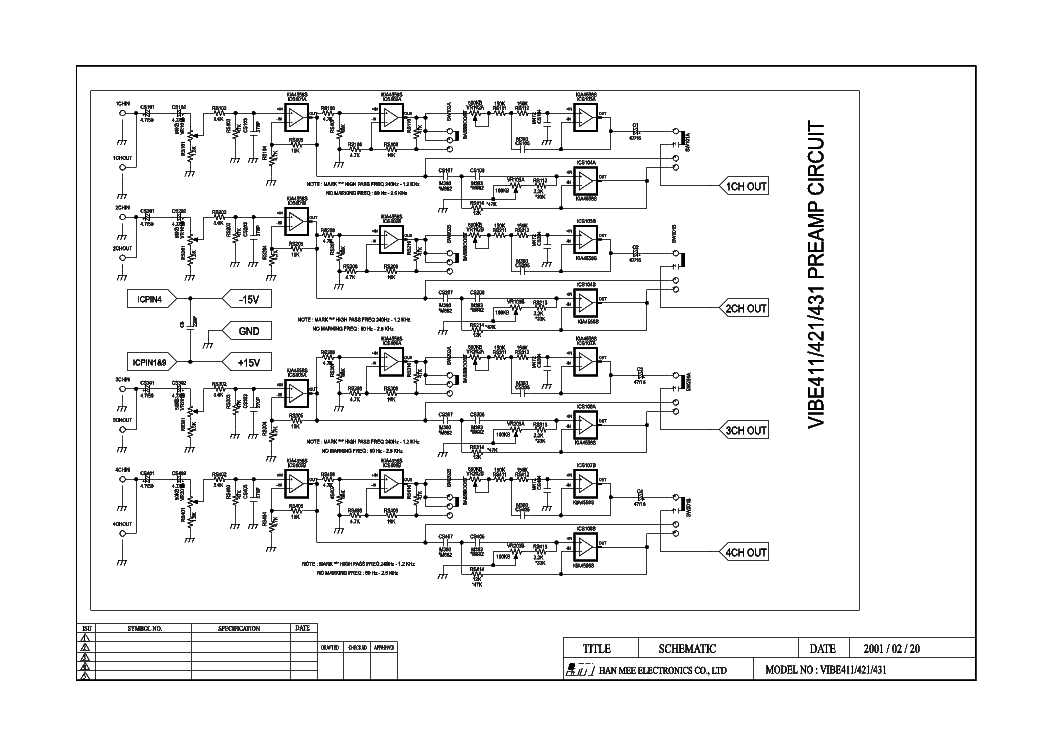 lanzar vibe431 car amplifier sch service manual download  schematics  eeprom  repair info for