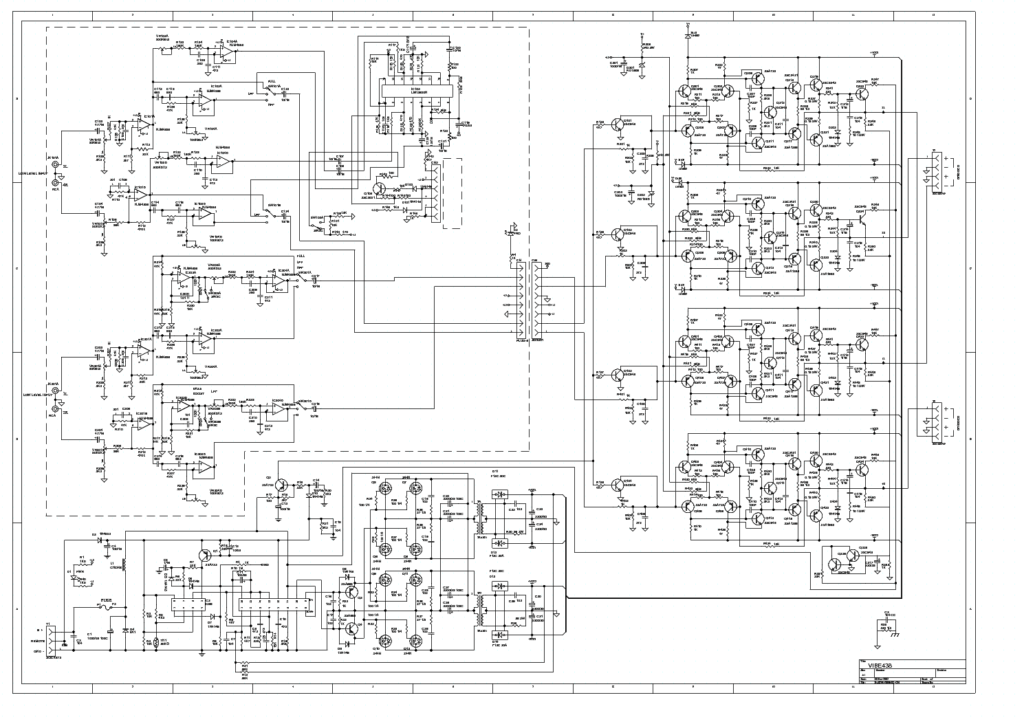 Lanzar Mxa422 Car Amplifier Sch Service Manual Download Schematics Diagram Vibe436
