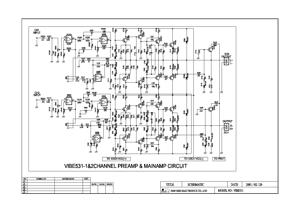 lanzar vibe531 car amplifier sch service manual download  schematics  eeprom  repair info for