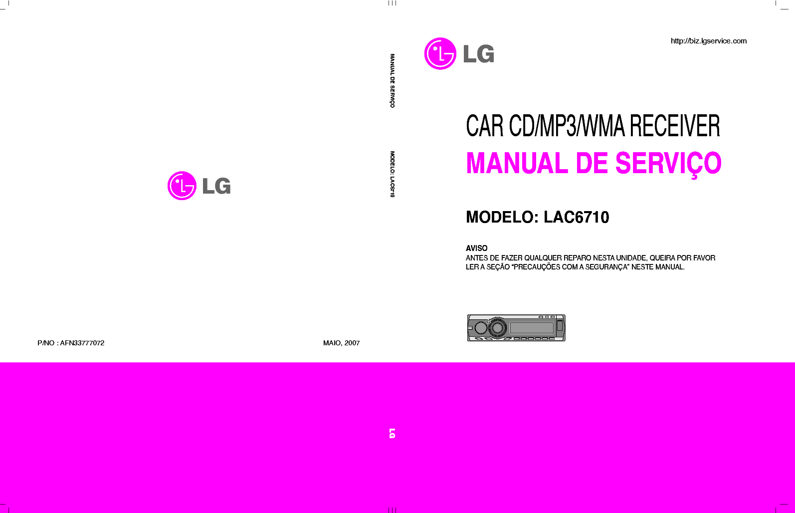 LG LAC6710 AFN33777072 service manual (1st page)