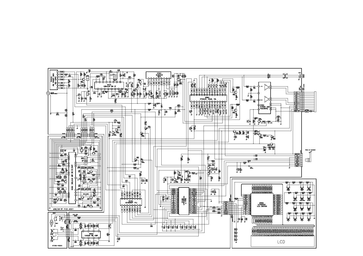 Принципиальная схема автомагнитолы LG TCC2010.