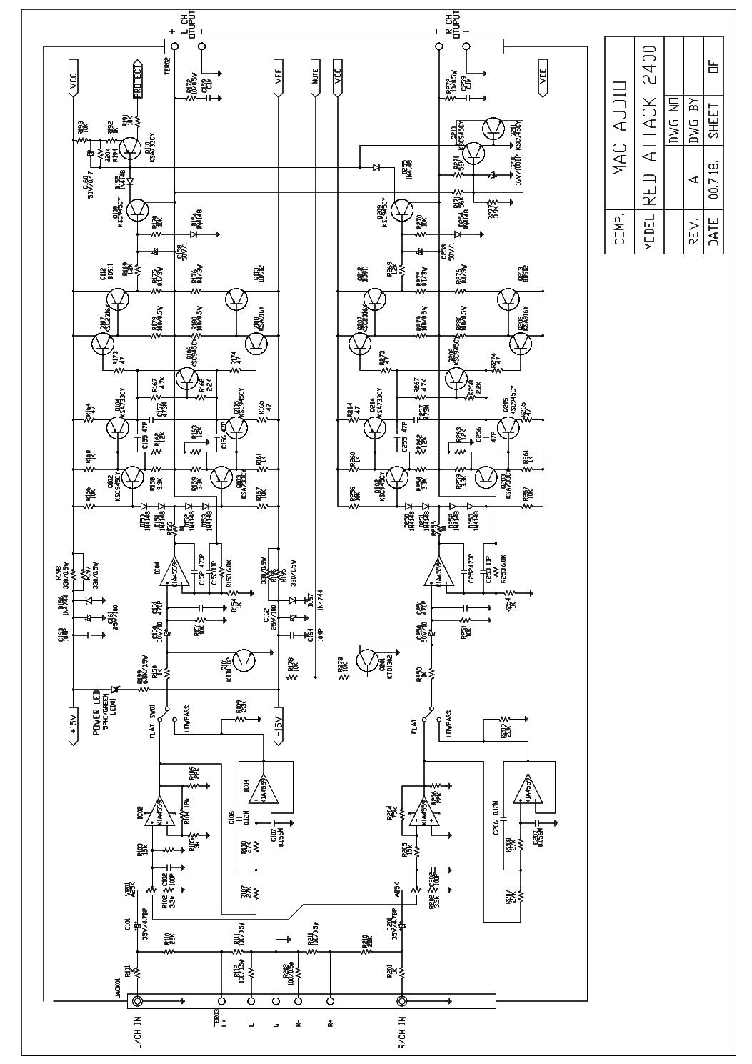 MACAUDIO RED ATTACK 2400 Service Manual Download