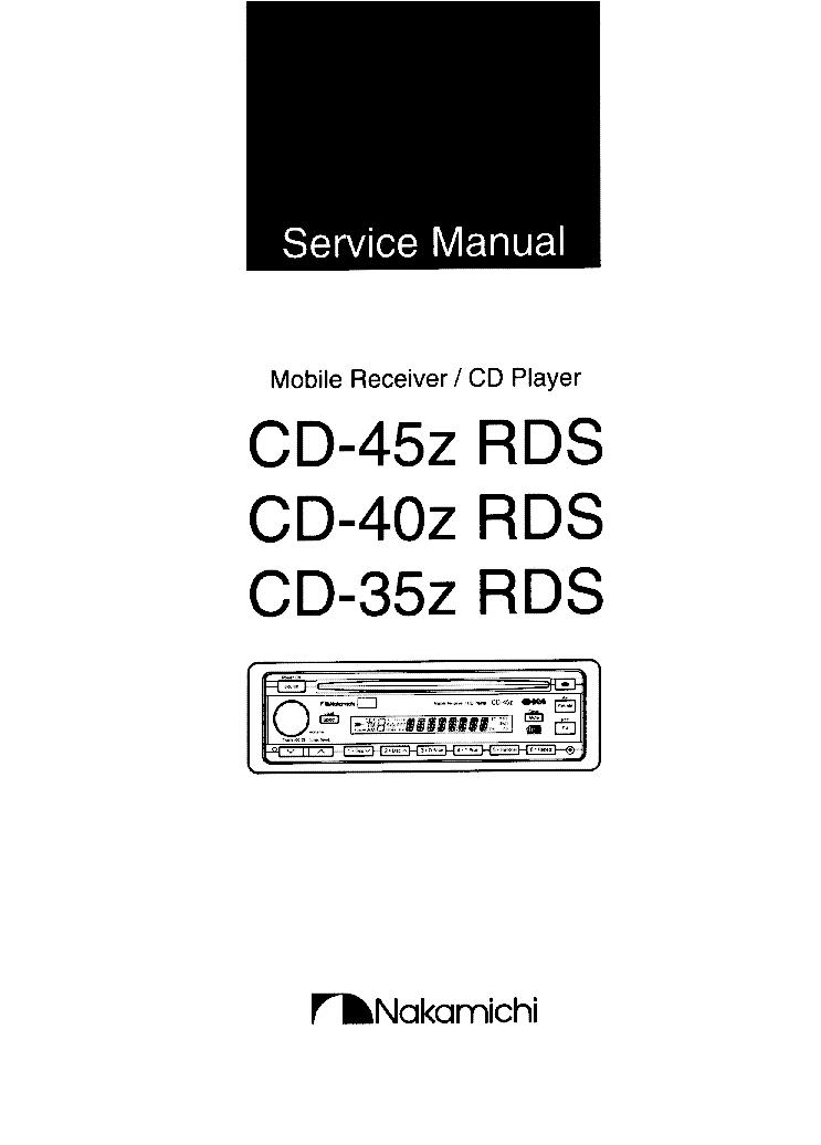 nakamichi cd 35z 40z 45z rds sm service manual download schematics rh elektrotanya com Nakamichi Speakers Nakamichi Cassette Deck