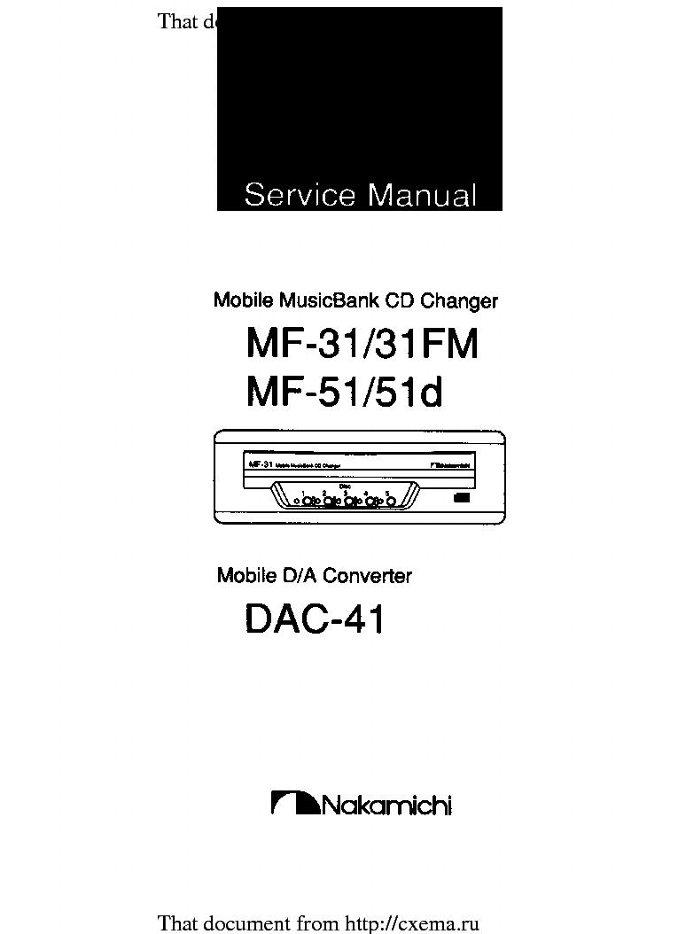 Nakamichi Td 35z Wiring Diagram Electrical Diagrams Rds 45z Sm Service Manual Download