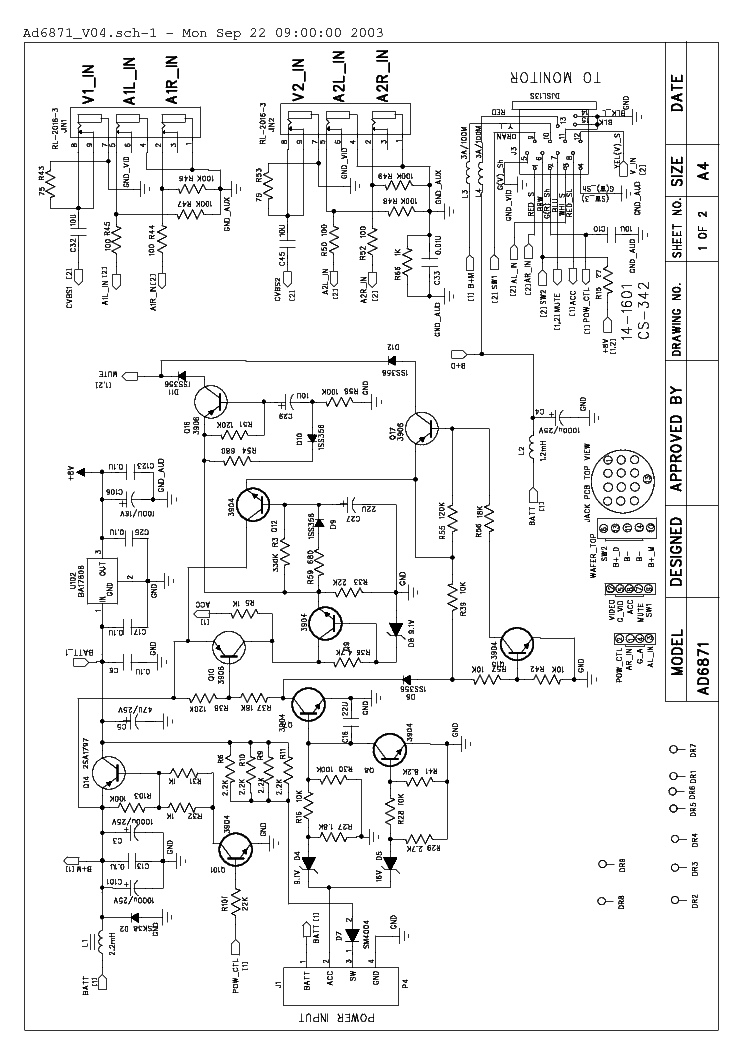 Necvox Car Dvd System Adaptor Ad6871