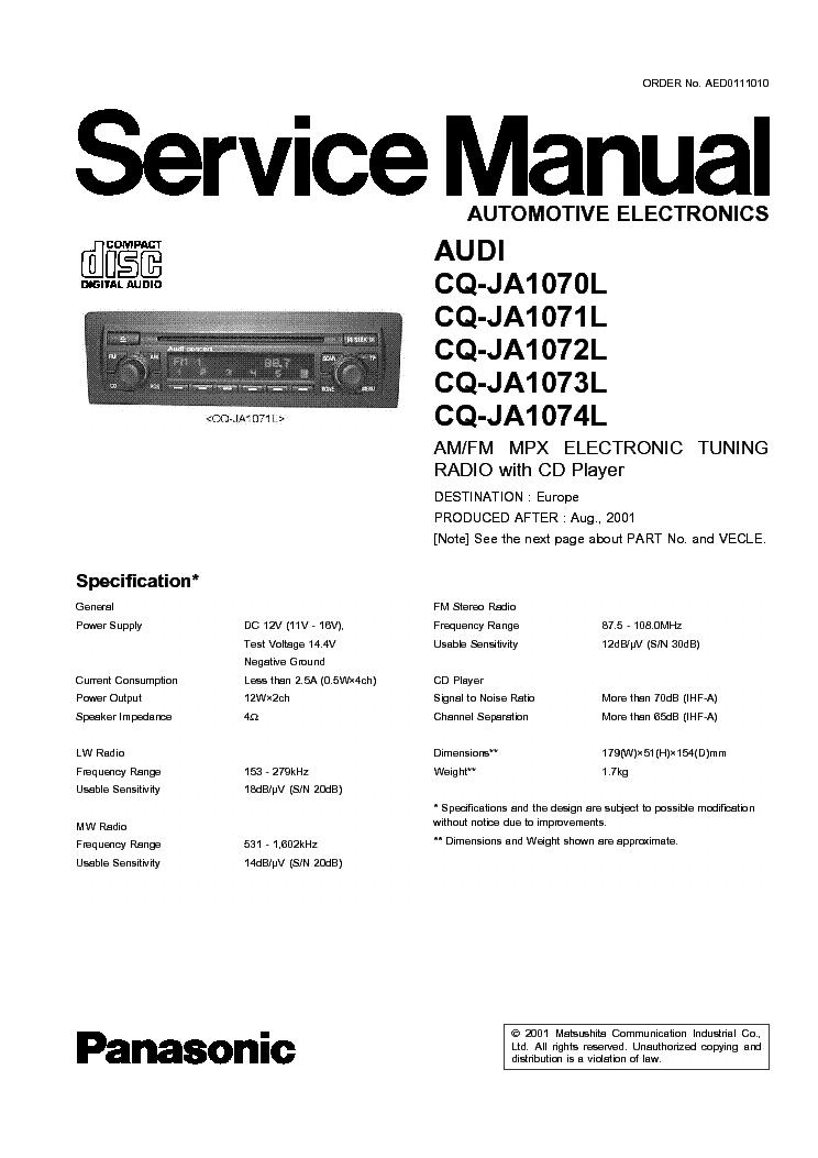 panasonic cq c1333u car audio service manual download schematics rh elektrotanya com