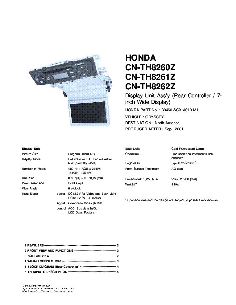 Service pdf manual odyssey honda