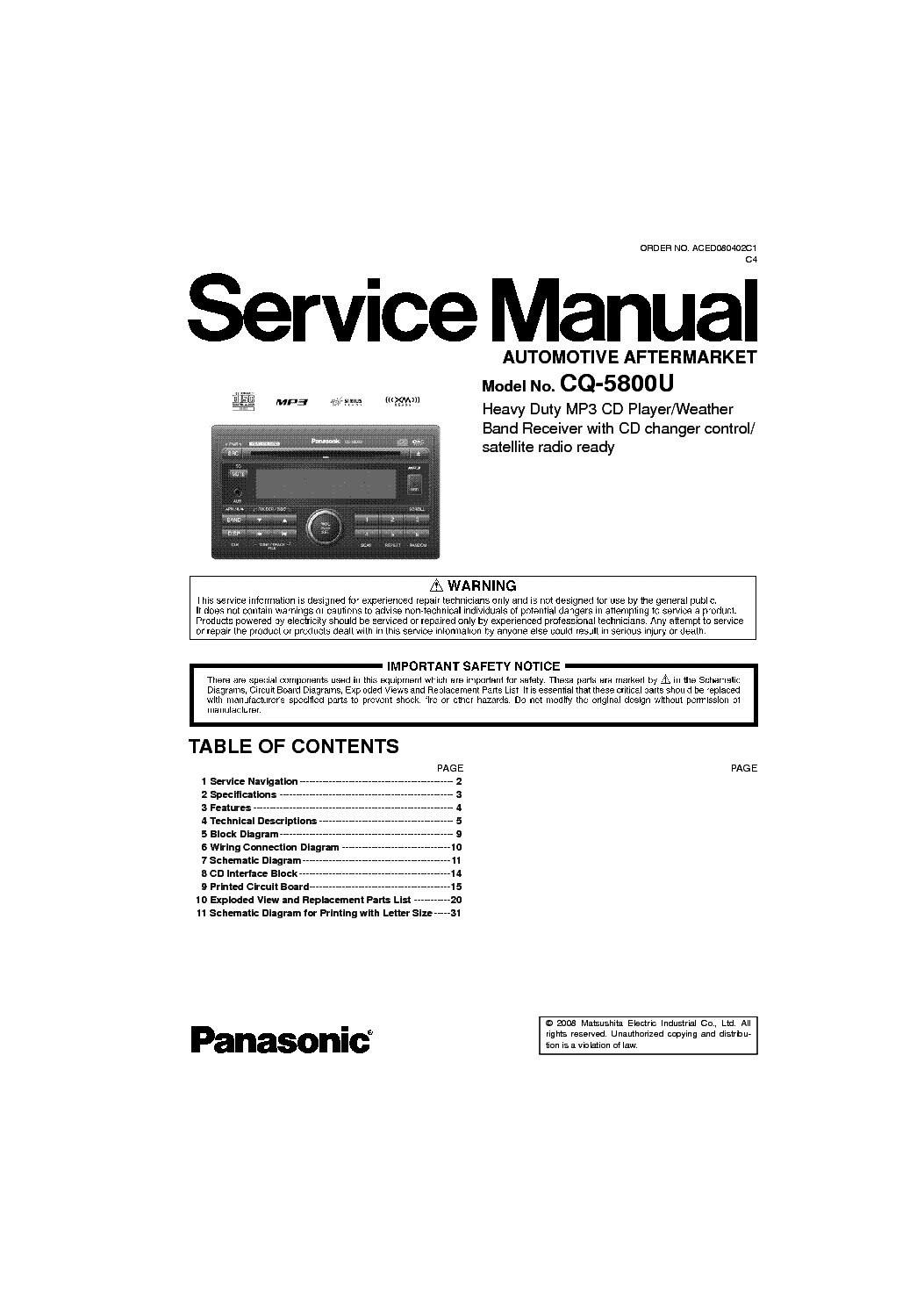 panasonic cd player wiring diagram cd free printable wiring diagrams