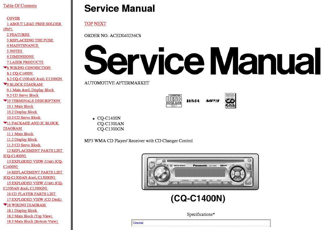 panasonic cq-c1300gn