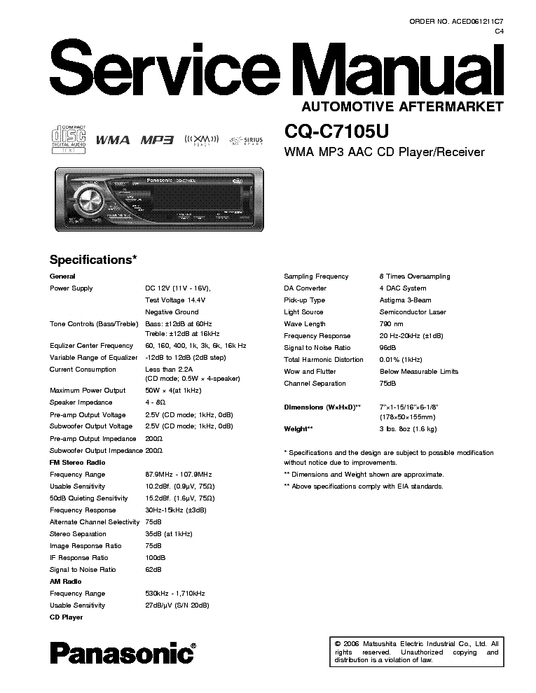 panasonic_cq c7105u.pdf_1 panasonic cq dp31 41eg sch service manual download, schematics panasonic cq c7103u wiring diagram at honlapkeszites.co