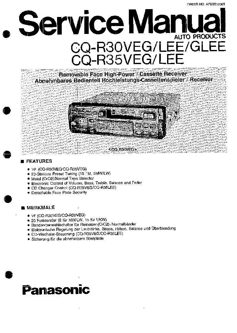 Exelent Diagrama De Cd Player Panasonic Cq Rx200u Gallery - Wiring ...
