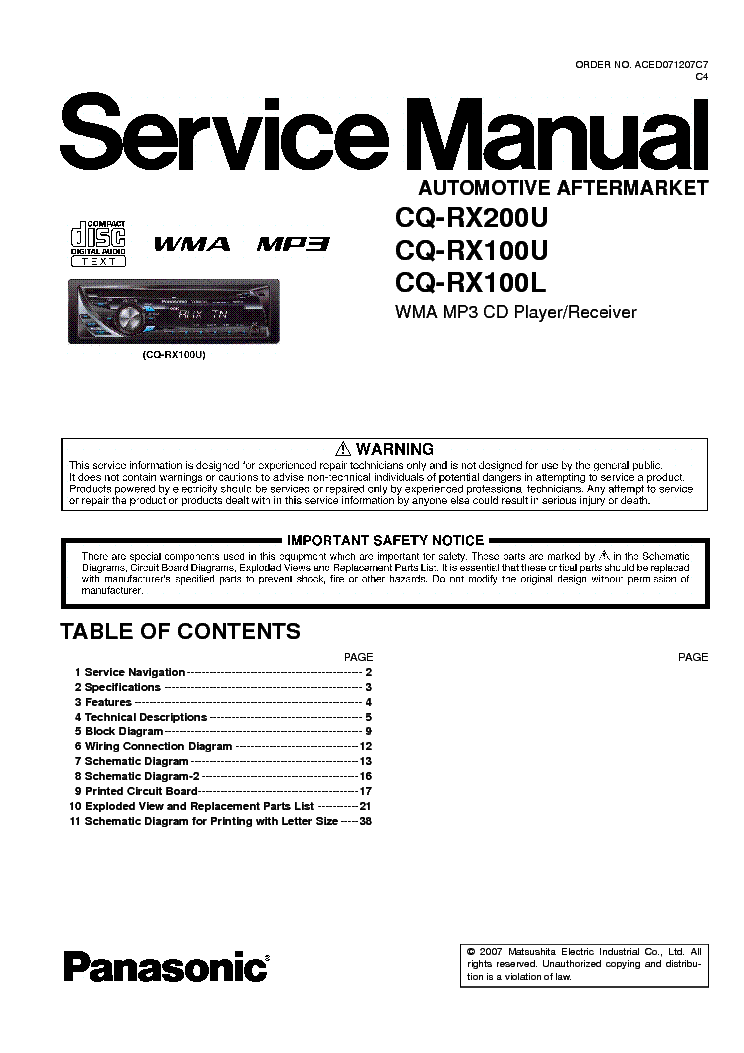 panasonic_cq rx100l_rx100u_rx200u_sm.pdf_1 panasonic cq rx100l rx100u rx200u sm service manual download panasonic cq rx100u wiring diagram at fashall.co