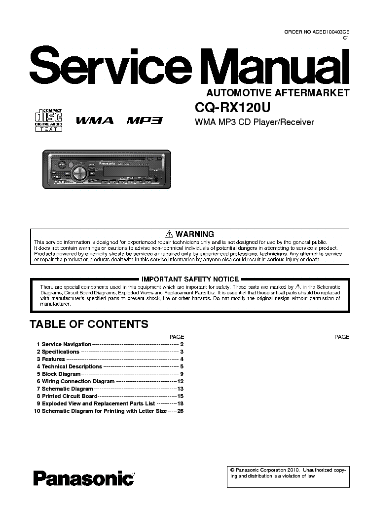 panasonic_cq rx120u_sm.pdf_1 panasonic cq rx100l rx100u rx200u sm service manual download panasonic cq-rx120u wiring diagram at cos-gaming.co