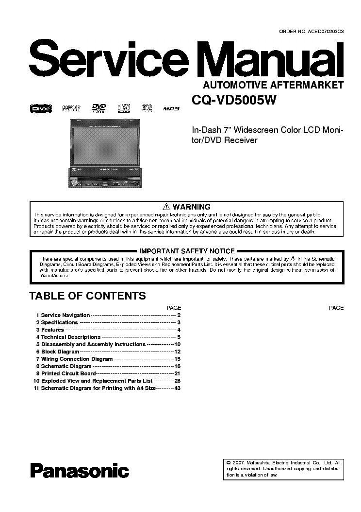 Panasonic CQ - VD5505W.