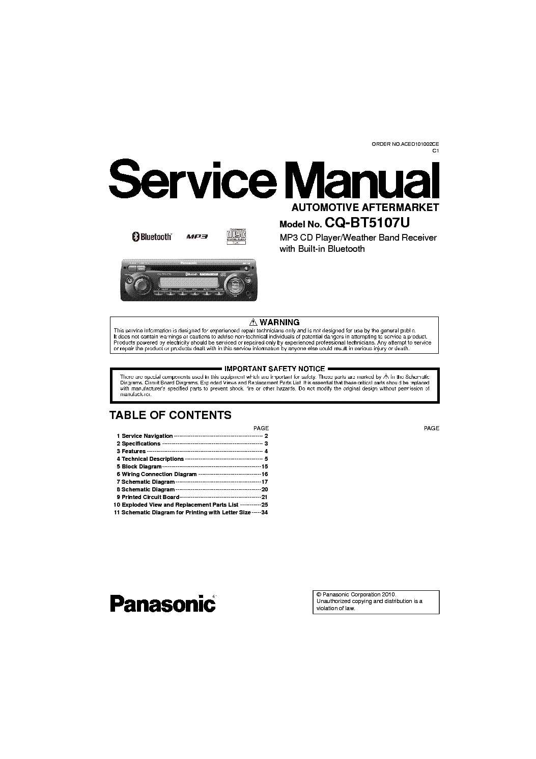 panasonic_cq_bt5107u_sm.pdf_1 panasonic cq c1333u car audio service manual download, schematics panasonic cq c1303u wiring diagram at gsmx.co