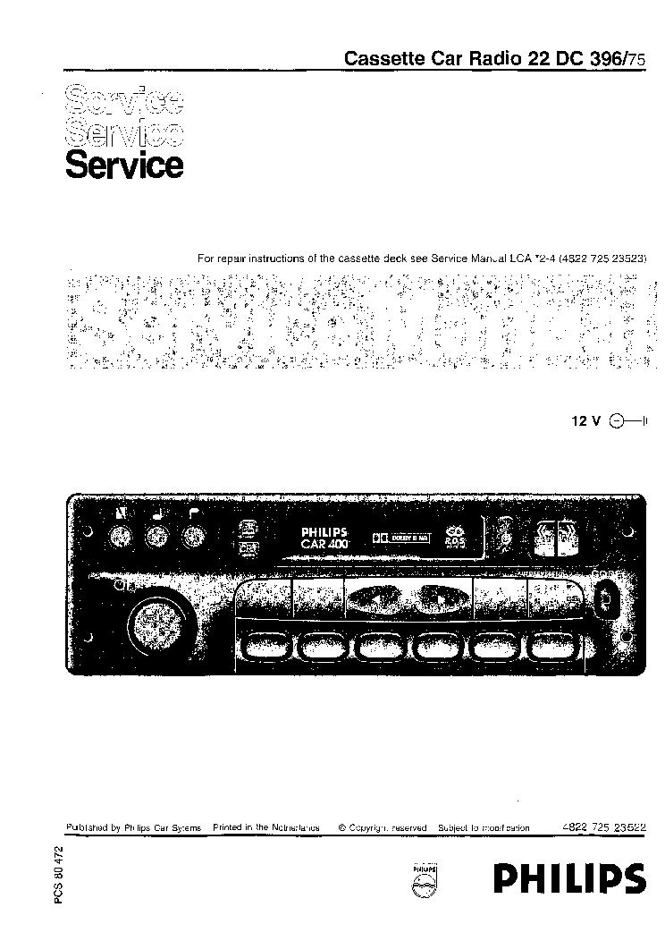 philips 22 dc 396 75 car400 service manual download schematics rh elektrotanya com Yamaha Service Manuals PDF Chilton Manuals