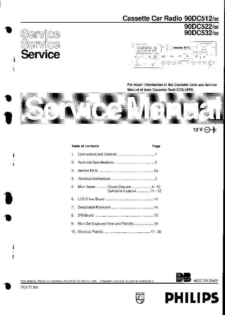 philips car400 22dc396 75 service manual download schematics rh elektrotanya com ATC 200M Repair Manual PDF Service Manual Pdf- Or Solutions