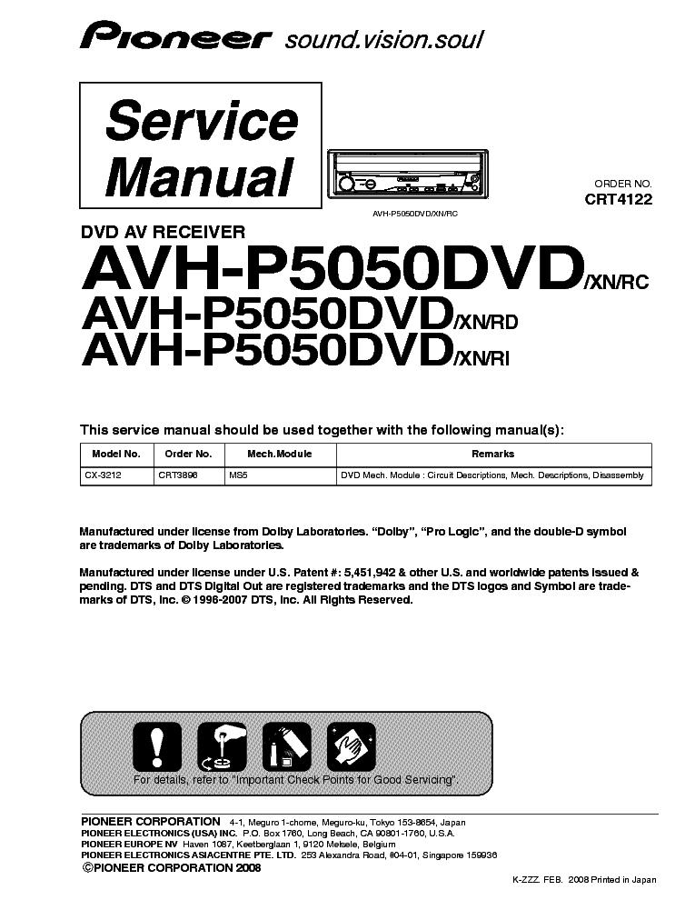 pioneer_avh p5050dvd.pdf_1 pioneer keh 1800 1830 service manual download, schematics, eeprom pioneer avh p5000dvd wiring diagram at soozxer.org