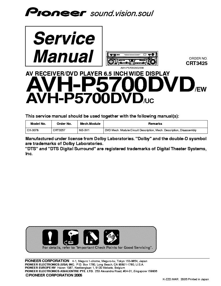 pioneer avh p5700dvd sm service manual download schematics eeprom rh elektrotanya com Pioneer Radio Wiring Diagram pioneer avh-p5700dvd installation guide
