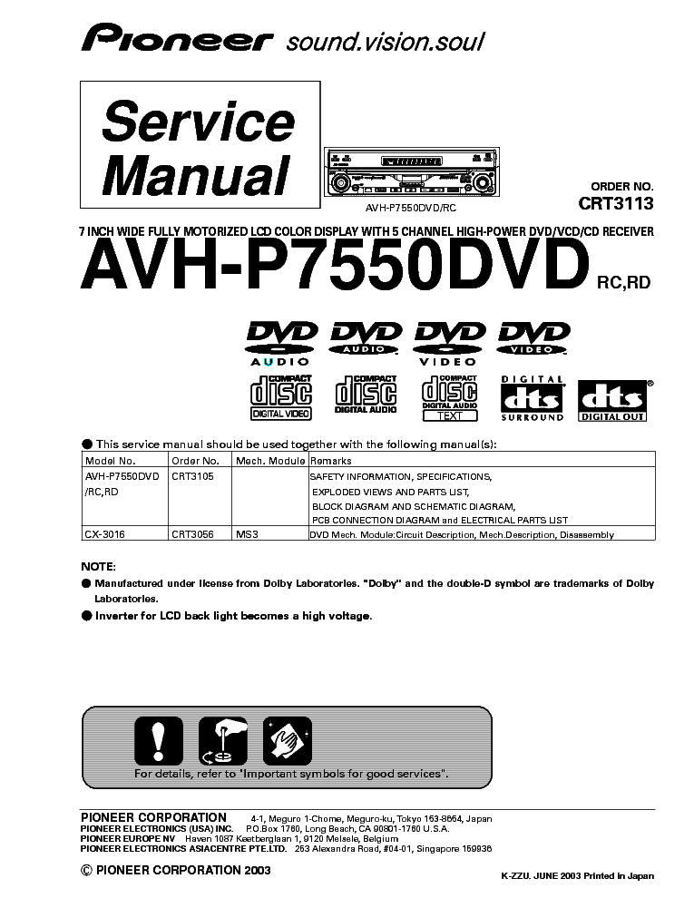 Wiring Diagram For Pioneer Avh P2300dvd : Pioneer avh p dvd wiring diagram