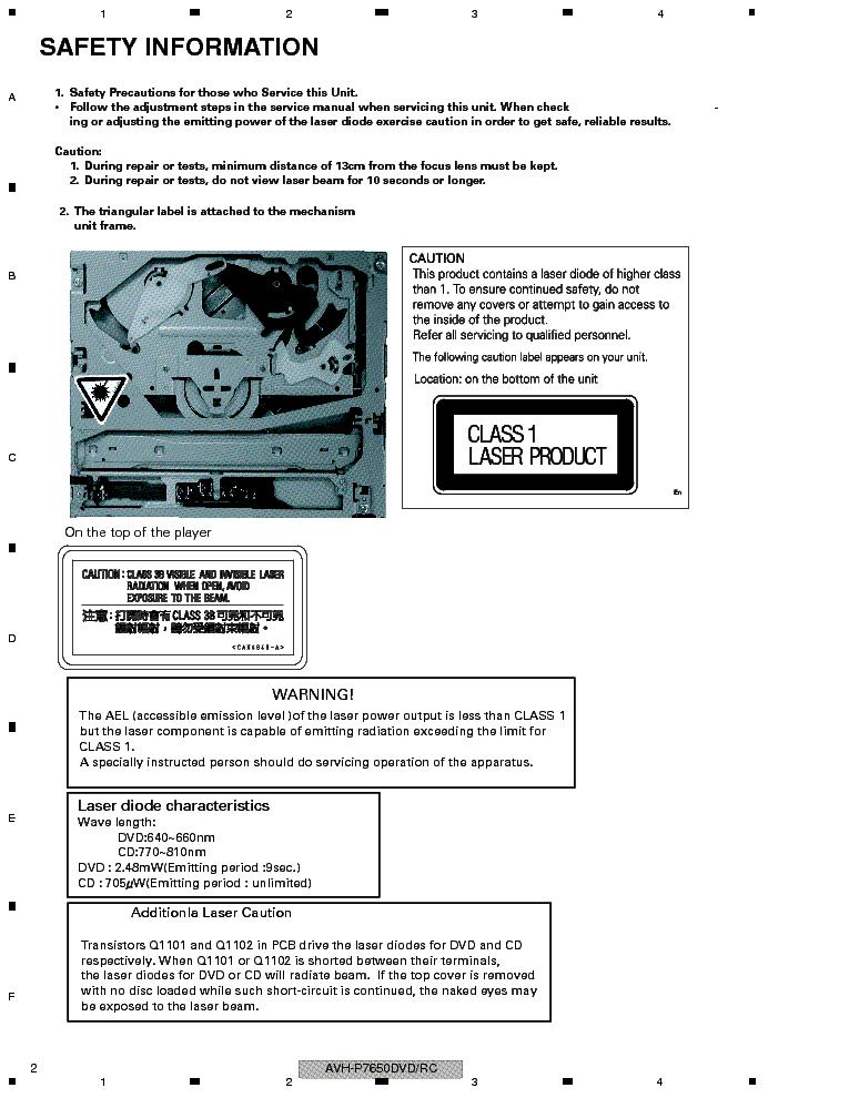 Pioneer Avh P3100dvd Installation Manual