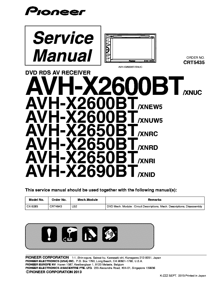 pioneer_avh x2600bt_x2650bt_x2690bt_crt5435_car_dvd_receiver.pdf_1 r171 install aftermarket radio to replace audio20 page 12 pioneer avh-x2600bt wiring harness diagram at bayanpartner.co
