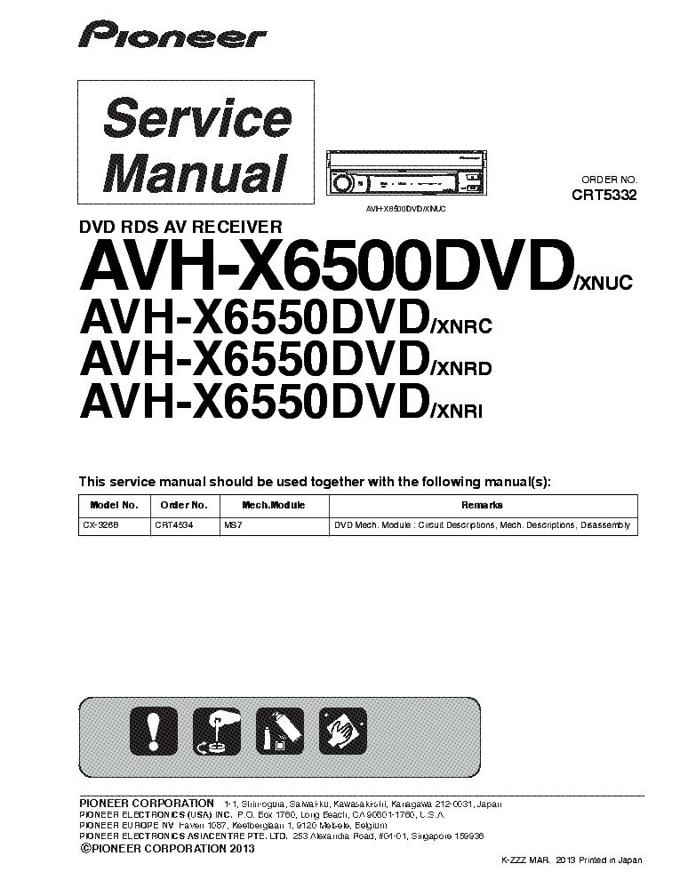 pioneer_avh x6500dvd_avh x6550dvd_sm.pdf_1 pioneer dex p1r deh p946 dex p1 crt2206 service manual download avh-x6500dvd wiring diagram at reclaimingppi.co