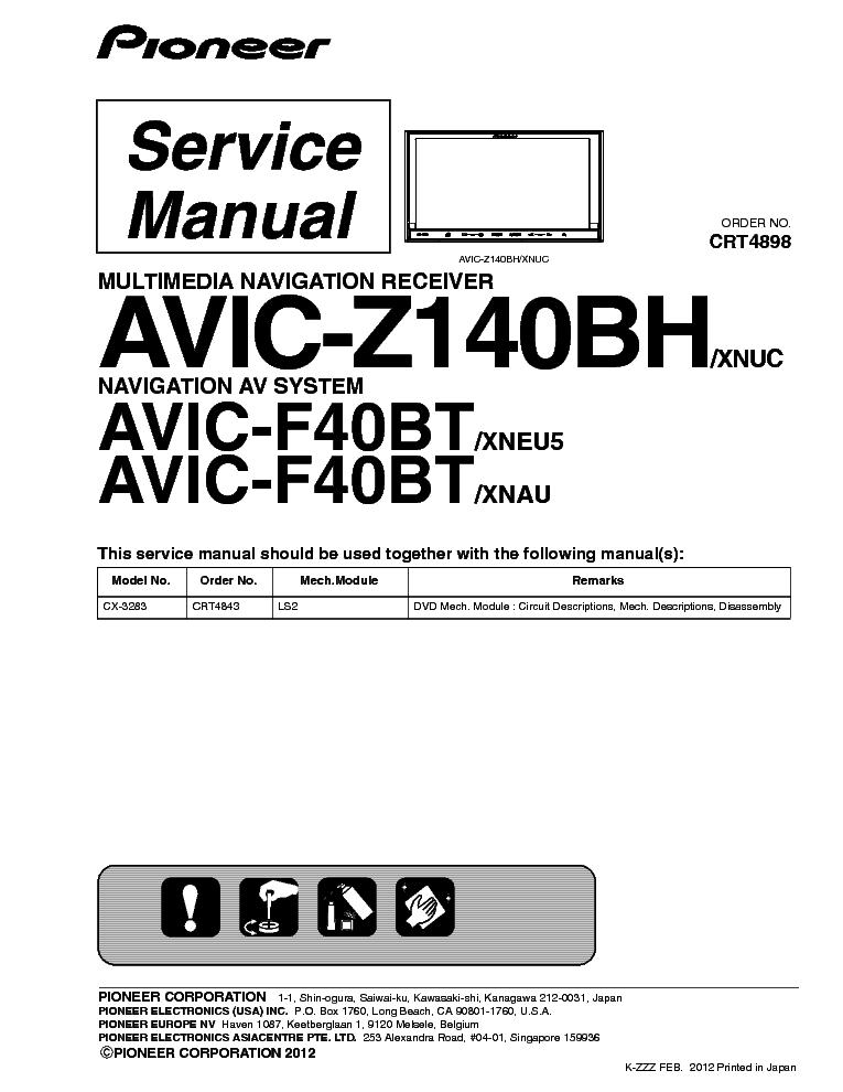 Avic z140bh manual