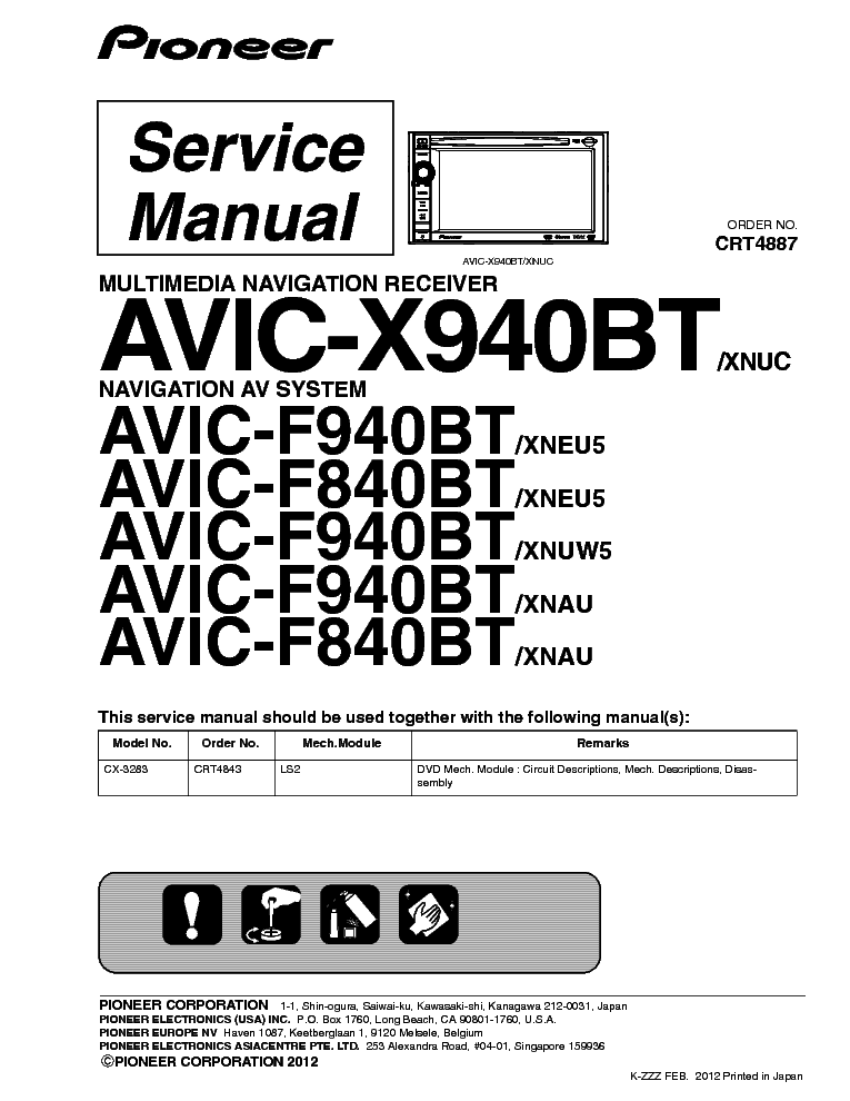Pioneer Gm 8187zt Sm Service Manual Download Schematics Eeprom Repair Info For Electronics Experts
