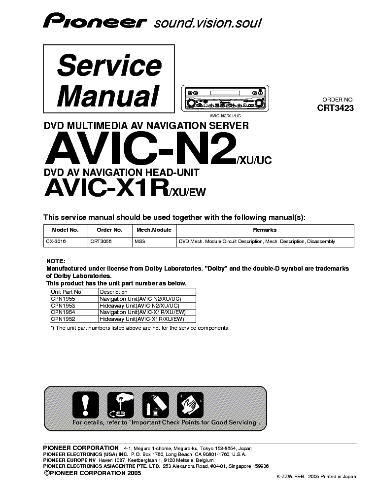 pioneer_avic n1_avic x1r crt3423.pdf_1 pioneer keh m7016zh 7116zh sm service manual download, schematics pioneer avic z1 wiring diagram at creativeand.co