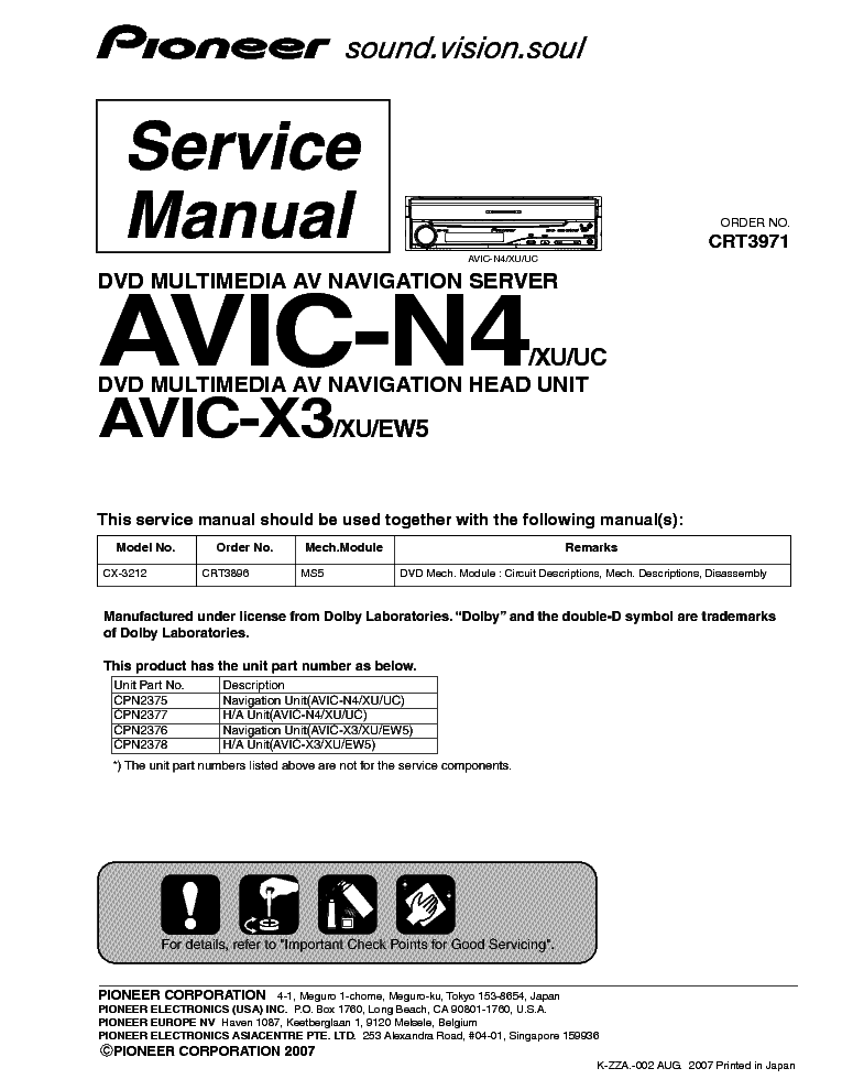 pioneer_avic n4_x3_crt3971_sm.pdf_1 pioneer keh m7016zh 7116zh sm service manual download, schematics pioneer avic n4 wiring diagram at crackthecode.co
