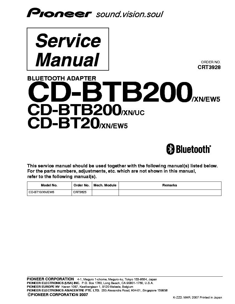 Pioneer Cd-btb200 Инструкция - фото 9