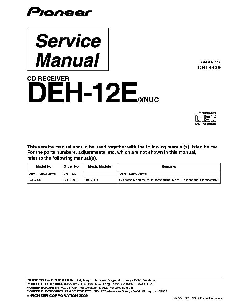 pioneer deh 12e service manual download schematics eeprom repair rh elektrotanya com