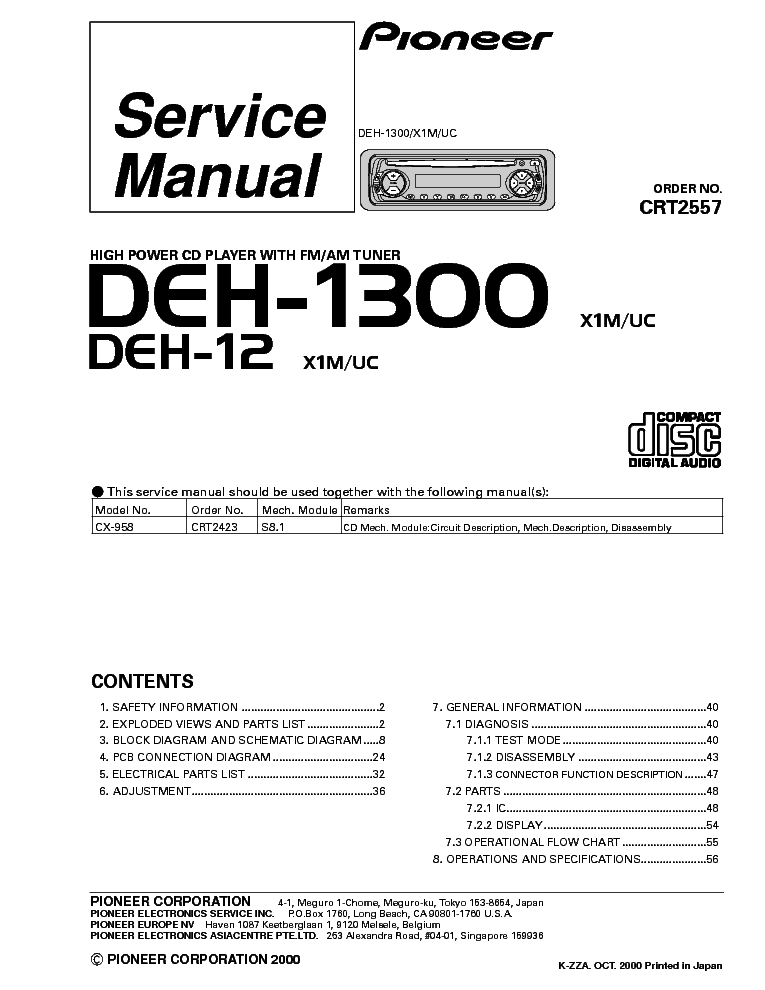 pioneer_deh 1300_12 car_audio.pdf_1 pioneer deh 1300mp wiring color diagram pioneer diy wiring diagrams,Pioneer Deh 1300mp Wiring Harness Color Code