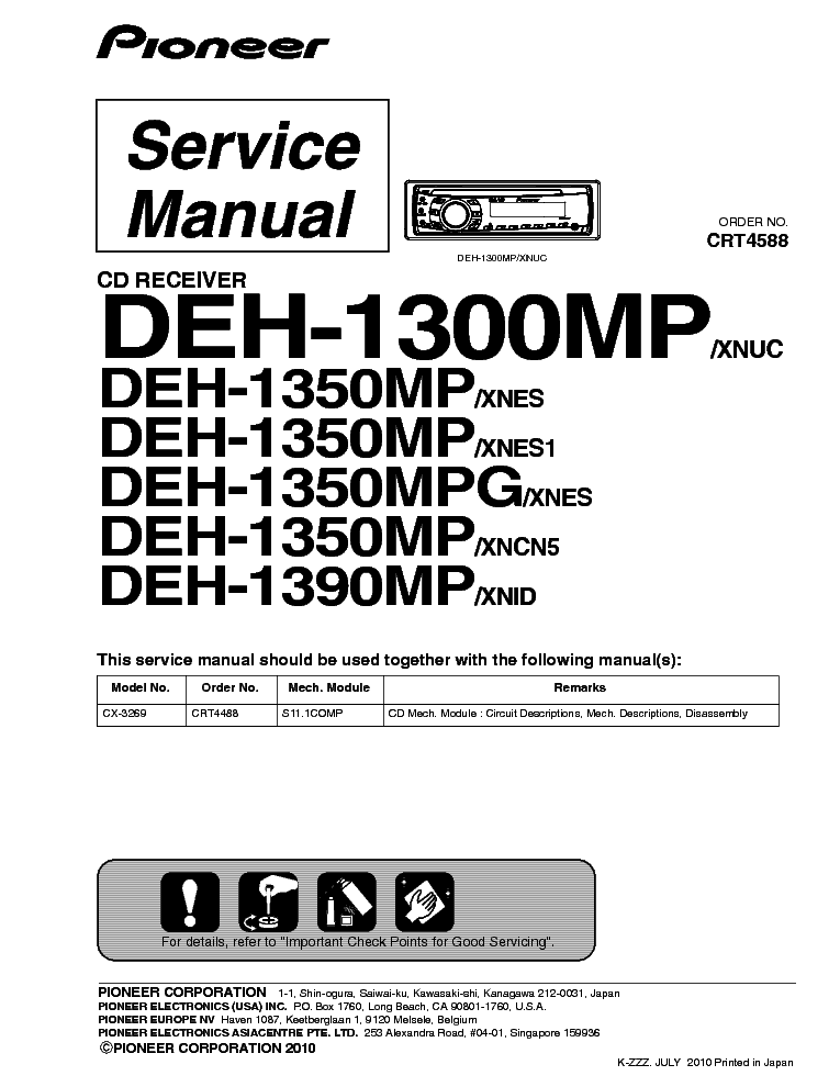 deh p7700mp wiring diagram deh automotive wiring diagrams mp wiring diagram pioneer deh 1300 1350 1390mp pdf 1