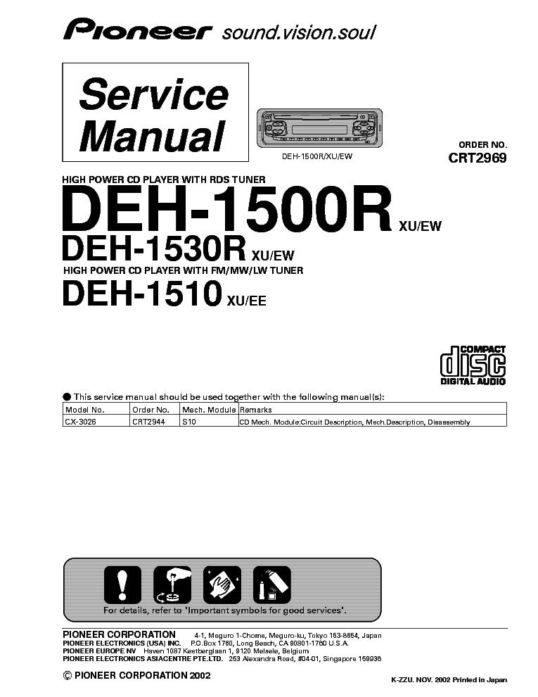 эксплуатации Pioneer DEH