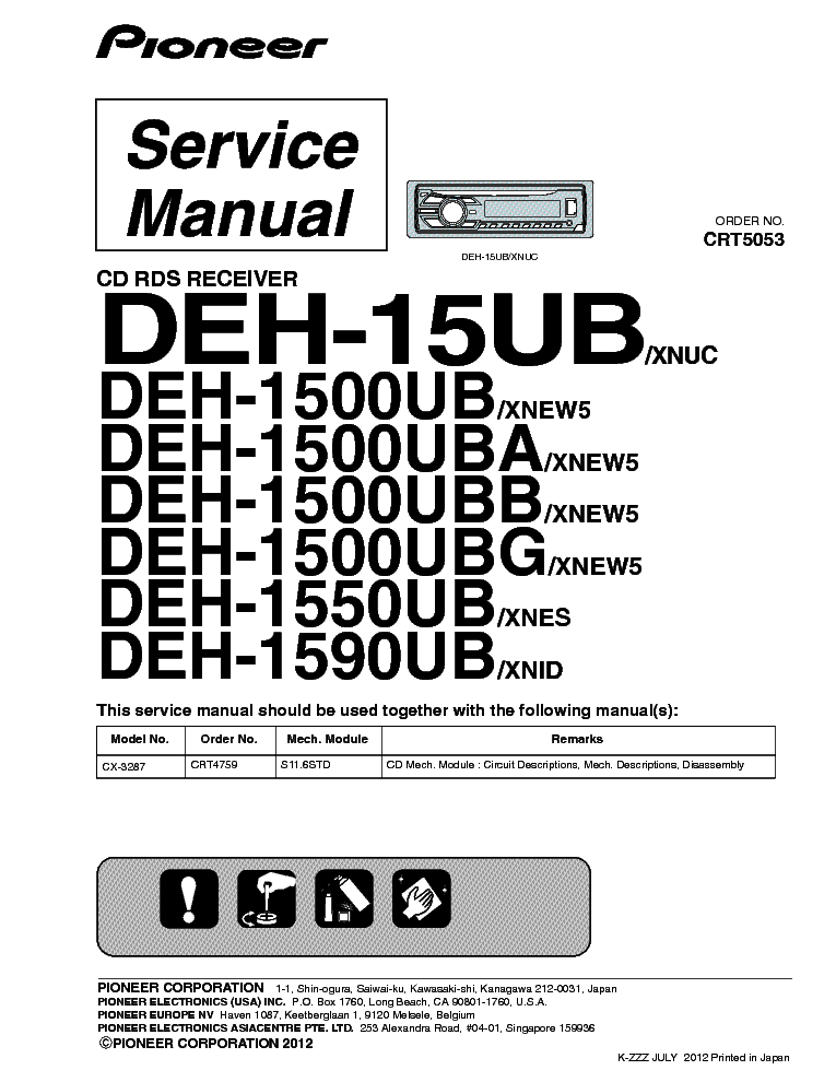 Manual for Pioneer super tuner Iii D Eeq mosfet 50w X 4 file free download direct