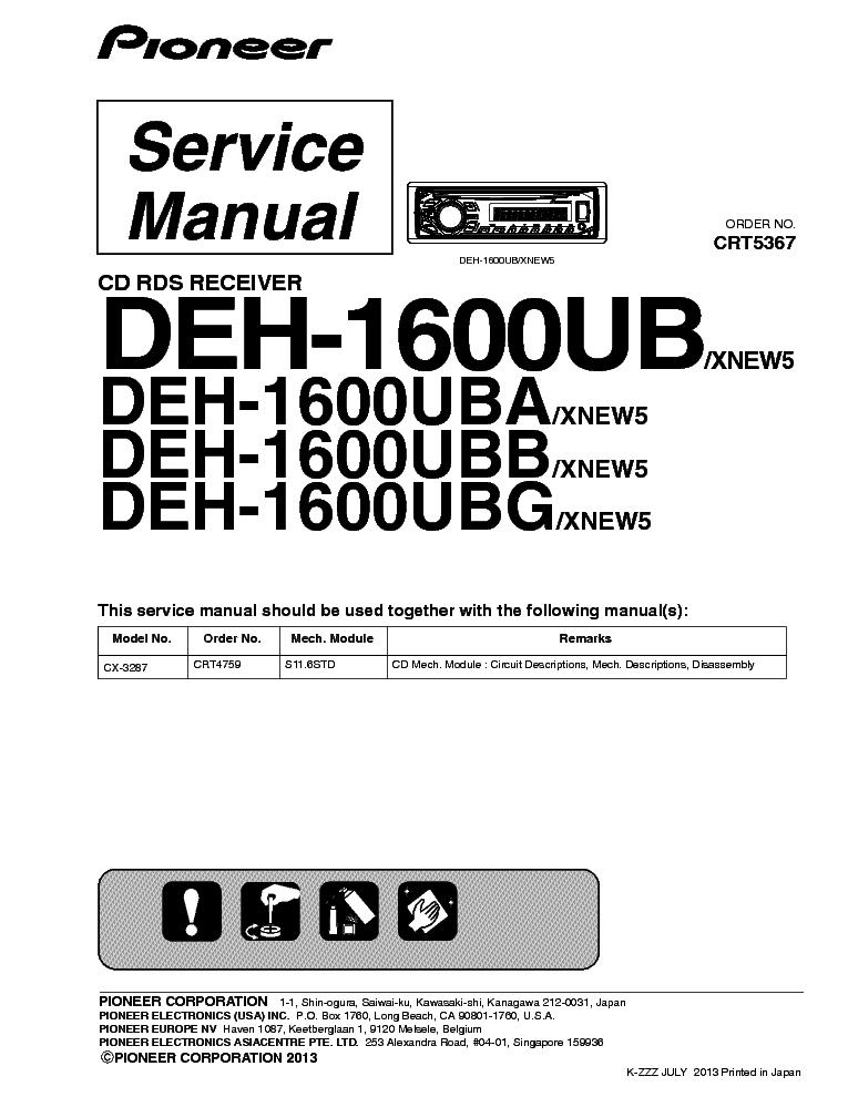 pioneer mvh-150ub service manual