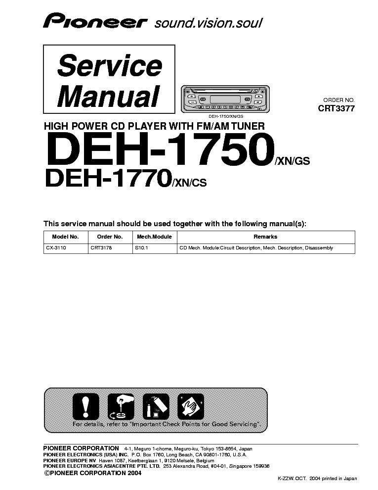 Pioneer keh p7850 service manual download, schematics, eeprom on pioneer deh 1850 wiring diagram Pioneer DEH-P7000BT Pioneer Deh 245 Wiring-Diagram