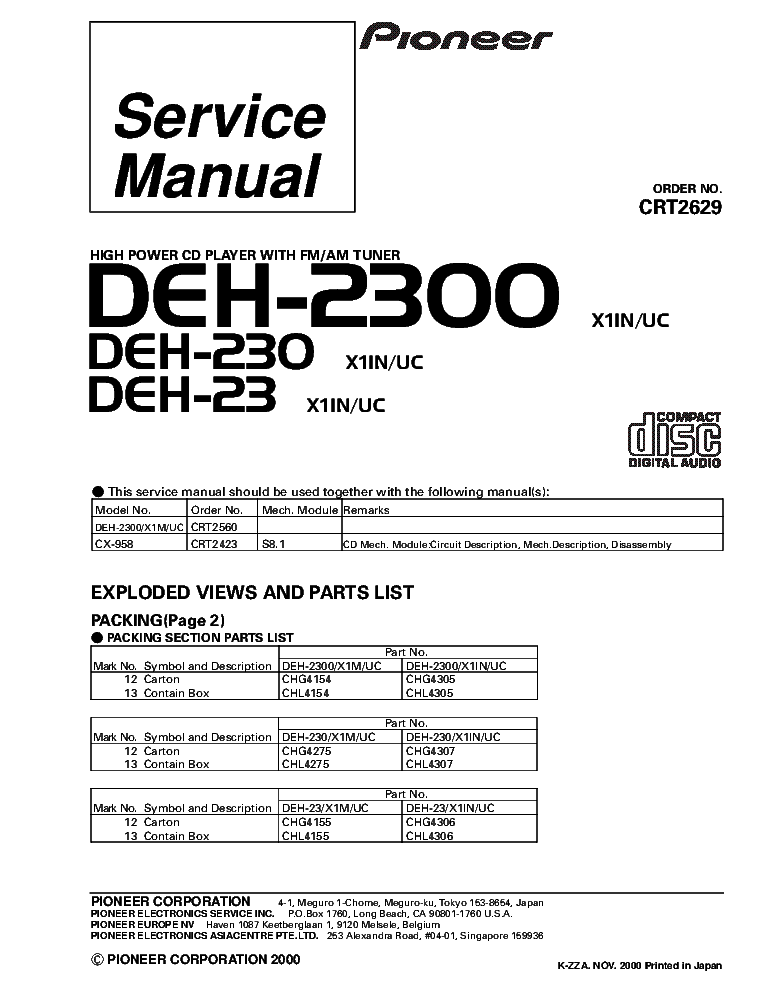 pioneer_deh 2300_deh 230_deh 23_crt2629_supplement.pdf_1 pioneer avh x1500 x1550 x1590dvd service manual download pioneer deh 2300 wiring diagram at soozxer.org