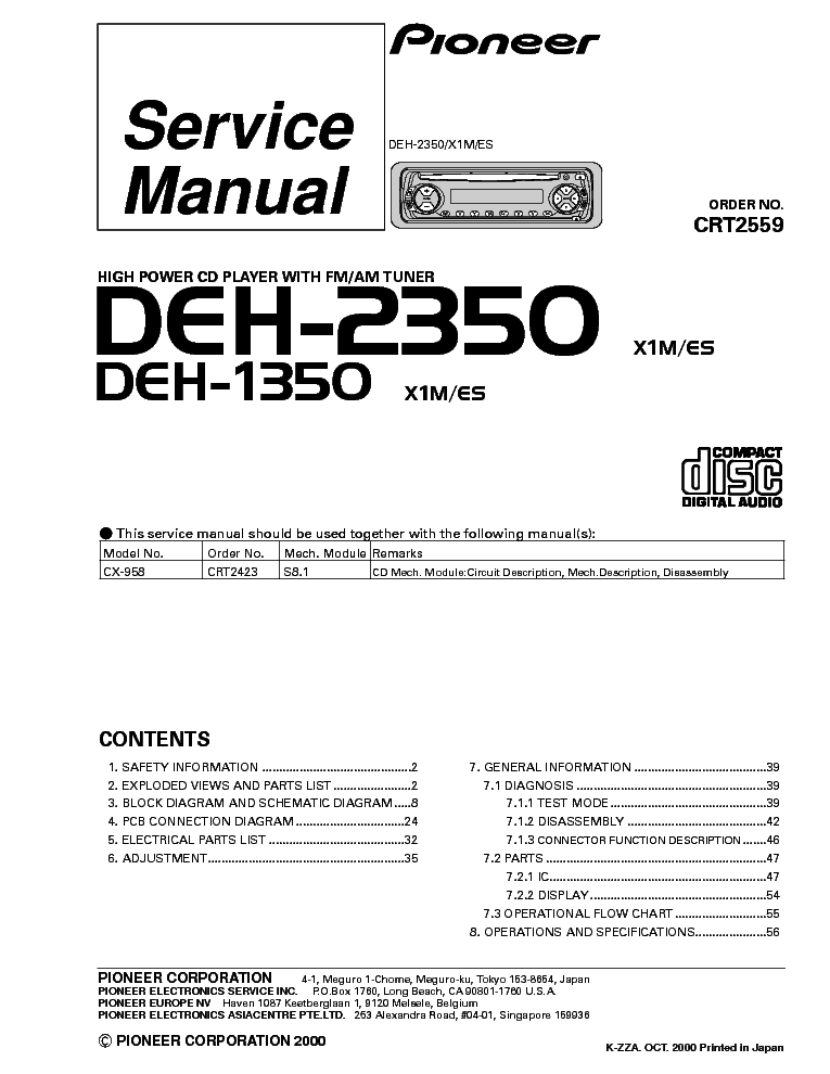 pioneer_deh 2350_1350_car_audio.pdf_1 pioneer deh 2350 1350 car audio service manual download pioneer deh 2300 wiring diagram at n-0.co