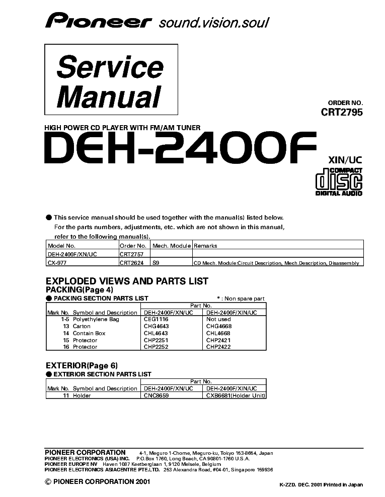 pioneer_deh 2400f_crt2795_supplement.pdf_1 pioneer gm 121, 123, 201, 203 sch service manual download pioneer deh-2400f wiring diagram at webbmarketing.co