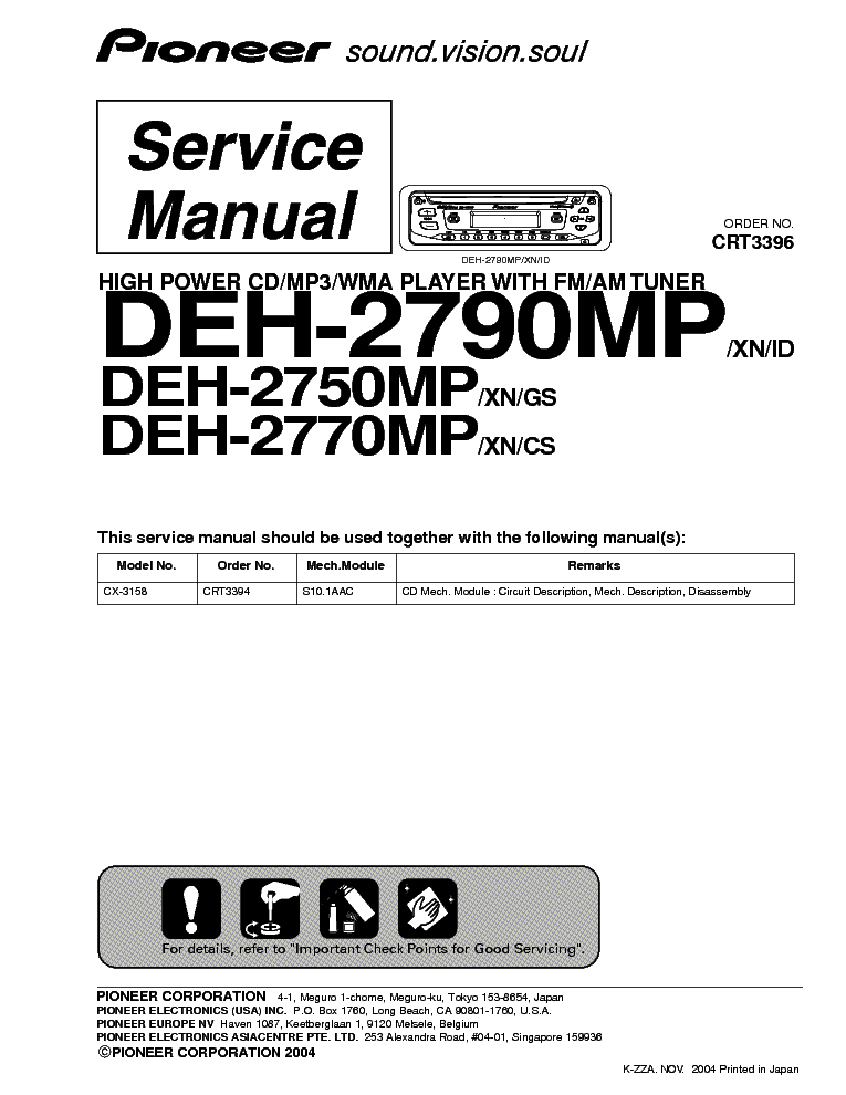 Wiring Diagram For A Pioneer Deh X3500ui : Pioneer deh bt wiring diagram p