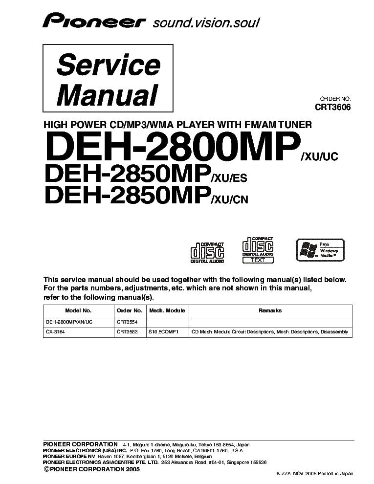Pioneer Deh X6700bs Wiring Diagram