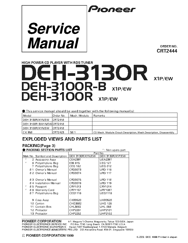 Wiring Diagram For Pioneer Deh X5500hd : Pioneer hd wiring diagram for stereo